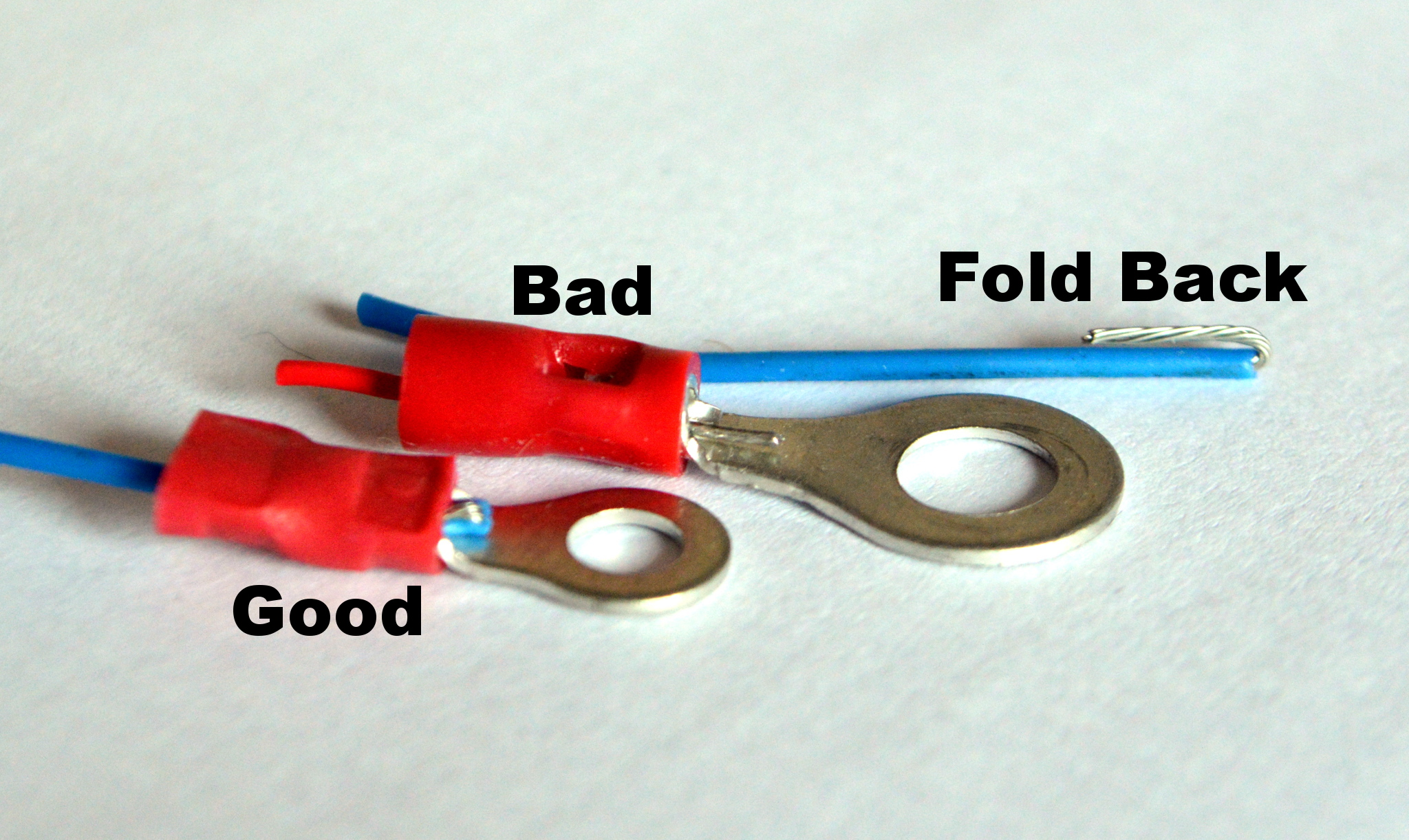 How to crimp the cable 76