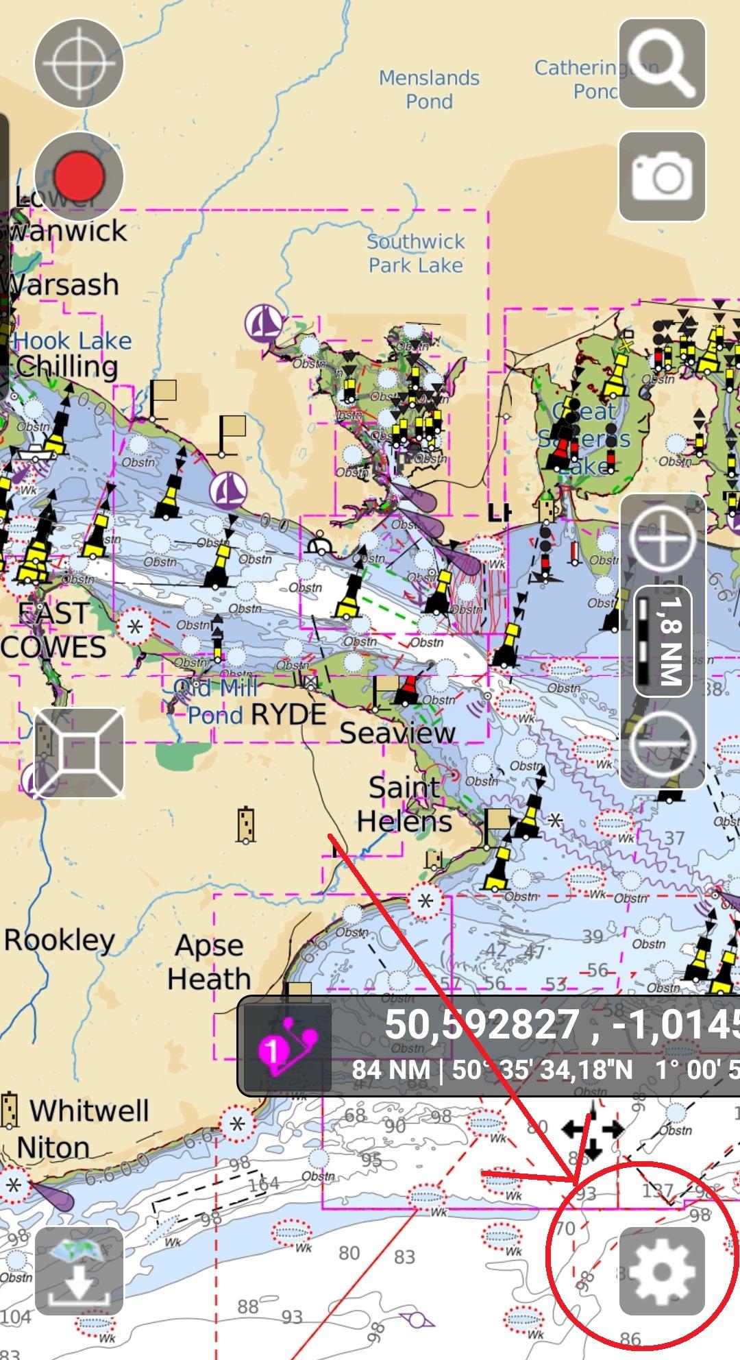Receive NMEA data in Aqua Map