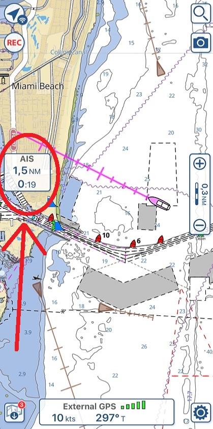 AIS targets in Aqua Map