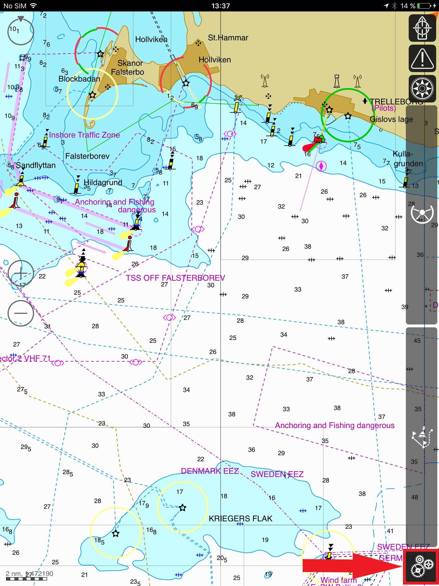 Receive NMEA data in iSailor