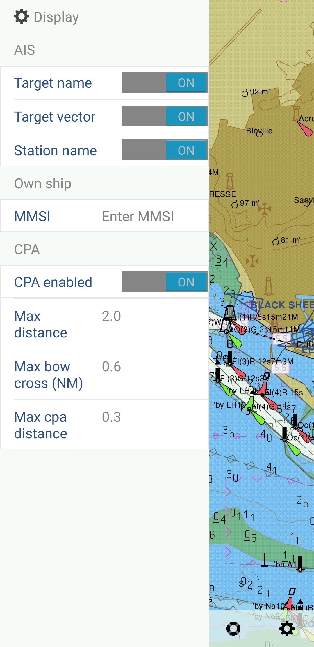 CPA TCPA alarms on Seapilot