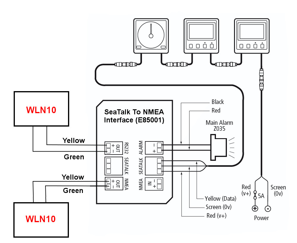 WLN10 Autohelm seatalk