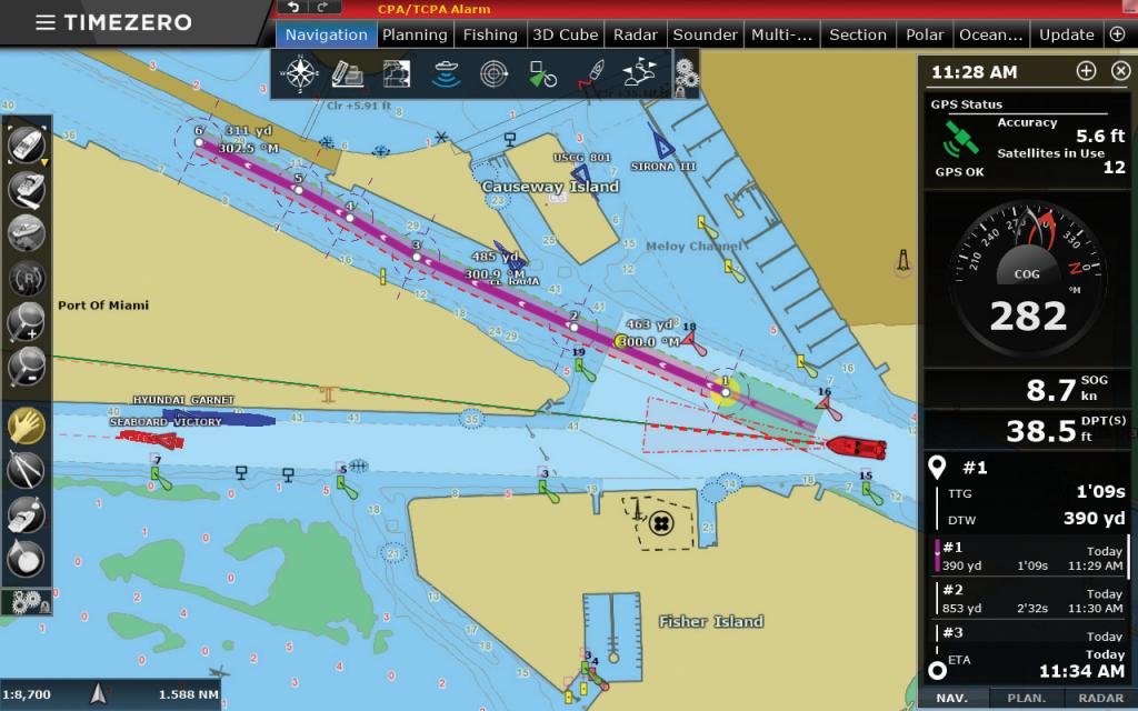 Logiciel de navigation TimeZero
